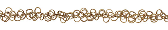 Antique Brass (plated) Dancing Rings Chain