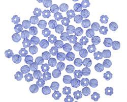 Czech Glass Sapphire Melon Round 3mm