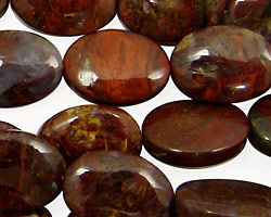 Red Pietersite Flat Oval 18x13mm