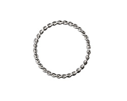 Silver (plated) Dual Wire Twisted Jump Ring 21mm