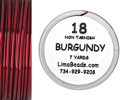 Parawire Burgundy 18 Gauge, 7 yards