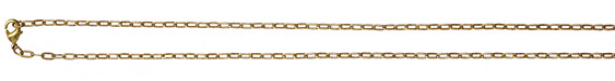 Vintaj Vogue Finished 2mm Flat Link Chain 18""