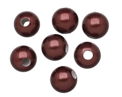 Black Cherry Shell Pearl Round (large hole) 10mm