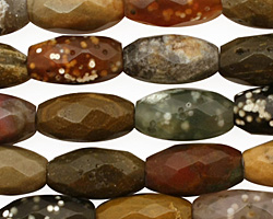 Ocean Jasper Faceted Rice 14x8mm