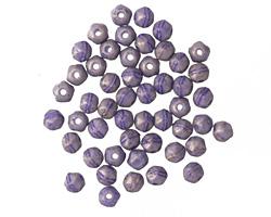 Czech Glass Pacifica Elderberry English Cut Round 3mm
