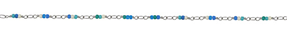 Zola Elements Tide Pool Seed Bead Link Silver Finish Chain