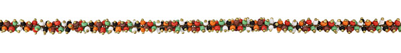 Zola Elements Harvest Multi Color Seed Beads on Brass Chain