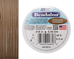 "Beadalon Bronze .015"" 49 Strand Wire 30ft."