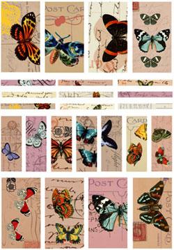 Nunn Design Butterflies Channel Bead Collage Sheet
