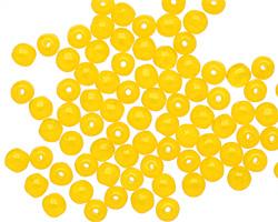 Czech Glass Milky Yellow Round 4mm