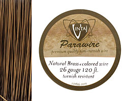 Vintaj Natural Brass Parawire 26 gauge, 120 feet