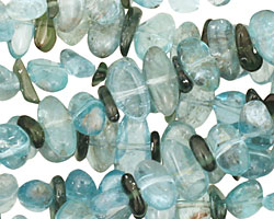 Apatite Flat Polished Pebble (side drilled) 2-6x6-12mm