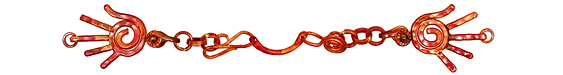 Patricia Healey Copper Hand Chain Link 145x24mm