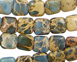 Blue Impression Jasper Puff Square 10mm