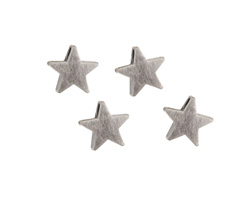 Antique Silver (plated) Star Focal Bead 6mm