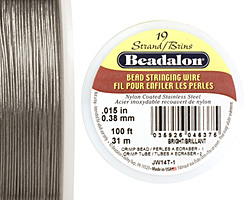 "Beadalon Bright .015"" 19 Strand Wire 100ft."