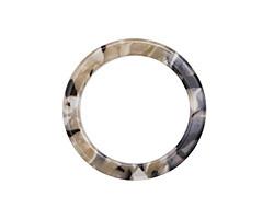 Black Pearl Acetate Ring 31mm