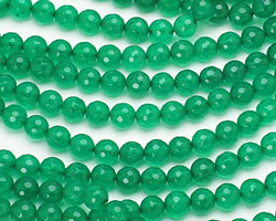 Emerald Colorful Jade Faceted Round 8mm