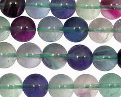 Blue Rainbow Fluorite (A) Round 10mm