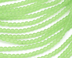 Peridot Recycled Glass Round 4mm
