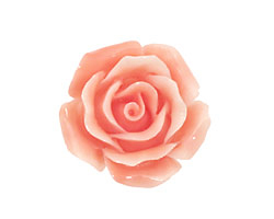 Coral (imitation), Angel Skin Pink Carved Rose 25mm