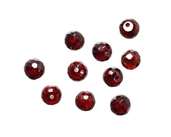 Garnet Faceted Round 6mm