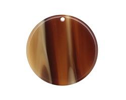 Zola Elements Brown Sugar Acetate Coin Focal 30mm
