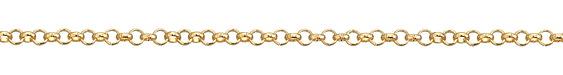 Hamilton Gold (plated) Rollo Chain 25' spool