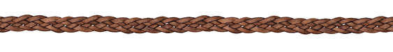 Natural Red Brown Flat Braided Leather Cord 9mm