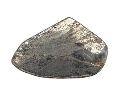 Golden Pyrite (silver tone) Flat Freeform Slab 32-48x27-37mm