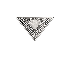 Zola Elements Antique Silver (plated) Decorative Triangle Bezel 5mm Flat Cord Slide 29x19mm