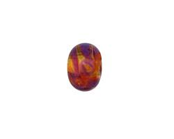 Grace Lampwork Orange & Purple Free Style Rondelle 9x13mm