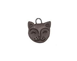 Gaea Ceramic Black Cat Charm 17x19mm