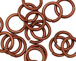 Bronze Anodized Aluminum Jump Ring 14mm, 14 gauge (9.6mm inside diameter)