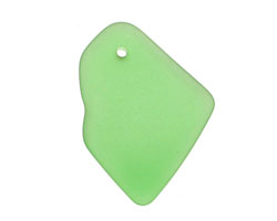Peridot Recycled Glass Freeform Drop 16-23x25-30mm