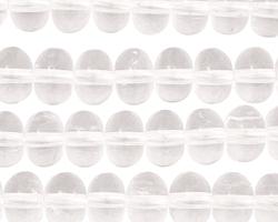 Rock Crystal Rondelle 7x10mm