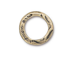 "TierraCast Antique Brass (plated) Flora 3/4"" Ring"