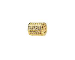 Gold (plated) CZ Micro Pave Lantern 9x7mm