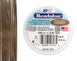 "Beadalon Bronze .024"" 49 Strand Wire 10ft."