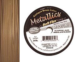 """Soft Flex Antique Brass .019"""" (Medium) 49 Strand Wire 30ft."""