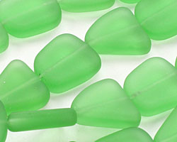 Shamrock Recycled Glass Flat Freeform 15x13-15mm