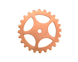 Copper Large Sectioned Gear 25mm