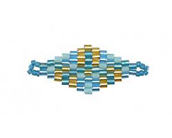 Reflecting Pool Hand Woven Diamond 32x13mm