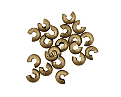 Antique Brass (plated) Crimp Cover 4mm