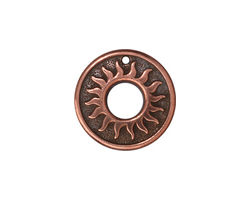 TierraCast Antique Copper (plated) Del Sol Ring 19mm