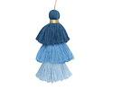 Sky Blue Mix 3-Tiered Tassel 75mm