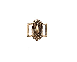 Zola Elements Antique Brass (plated) Southwest Concho Style 7mm Flat Cord Slide Link 14x15mm