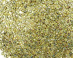 TOHO Rainbow Peridot (with Gold Lining) Round 11/0 Seed Bead
