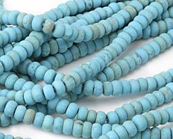 Blue Magnesite Matte Rondelle 4x6mm