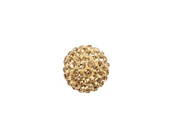 Light Colorado Topaz Pave Round 12mm